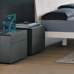 Mobili Domani Pass Bedside Night Table, 2 Drawers