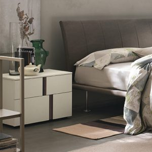 Mobili Domani Athena Bedside Medium Night Table, 2 Drawers