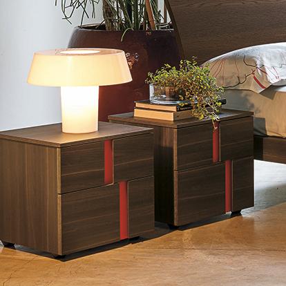 Mobili Domani Athena Bedside Small Night Table, 2 Drawers