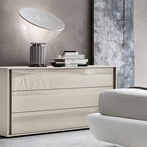 Mobili Domani VIP Crystal Chest of Drawers, 3 Drawers