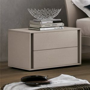 Mobili Domani VIP Bedside Night Table, 2 Drawers