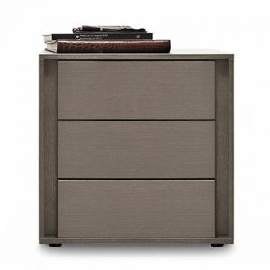Mobili Domani VIP Bedside Night Table, 3 Drawers