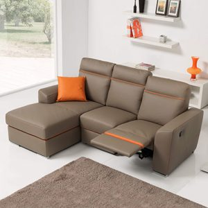 Mobili Domani Monica Electric Recliner Leather Sofa Collection