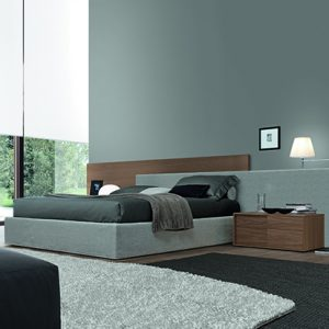 Mobili Domani MyLove Bed With Upholstered Frame