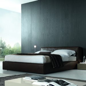 Mobili Domani Mark Upholstered Continental Kingsize Bed