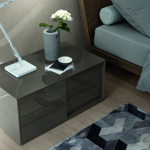 Mobili Domani Plan Bedside Night Table, 2 Drawer