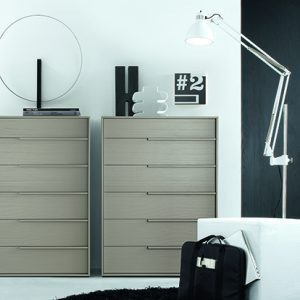 Mobili Domani Feel Tallboy Chest of Drawers, 6 Drawers