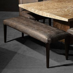 Mobili Domani Stardust Leather Dining Bench