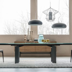 Cattelan Italia Elan Glass Table, by Pao Cattelan